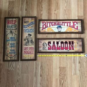 Other - 1973 Vintage Americana Decorative Wall Plaques